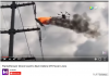 Drone Flamethrower Cleaning Power Lines